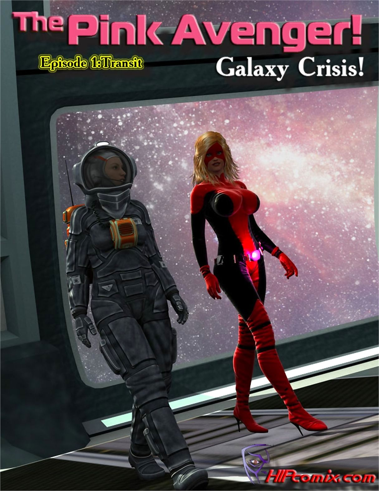 HIPcomix- The Pink Avenger! Galaxy Crisis! page 1